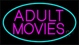 Pink Adult Movies Neon Sign