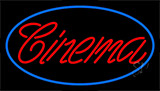 Red Cursive Cinema Neon Sign