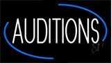 White Auditions Neon Sign
