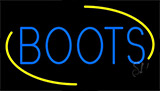 Blue Boots Neon Sign