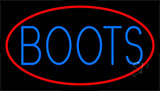 Blue Boots With Red Border Neon Sign