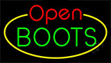 Boots Open With Border Neon Sign