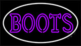 Purple Double Stroke Boots Neon Sign
