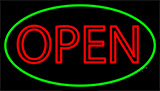 Double Stroke Open Green LED Neon Sign