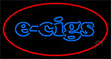 E Cigs Red Border LED Neon Sign