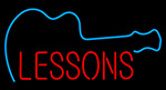 Guitar Lessons LED Neon Sign