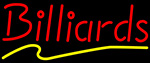 Billiards Red Yellow LED Neon Sign
