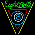 Eight Ball Billiards Pool LED Neon Beer Sign