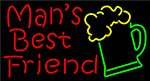 Man Best Friend Beer Glass Man Cave LED Neon Sign
