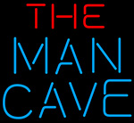 Red And Blue The Man Cave Neon Sign