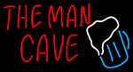 The Man Cave Beer Glass LED Neon Beer Sign