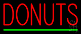 Red Donuts Green Line Neon Sign