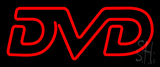 Red Dvd LED Neon Sign