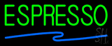 Green Espresso Blue Line Neon Sign