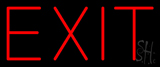 Red Exit Neon Sign