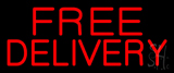 Red Free Delivery Neon Sign