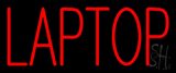 Red Laptop Neon Sign
