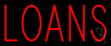 Red Loans Neon Sign
