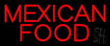 Red Bold Mexican Food Neon Sign