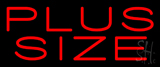 Red Plus Size Neon Sign