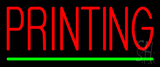 Red Printing Green Line Neon Sign