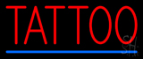 Red Tattoo Blue Line LED Neon Sign