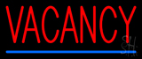 Red Vacancy With Blue Line LED Neon Sign