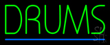Drums Block Blue Line LED Neon Sign