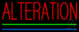 Red Alteration Blue Green Line Neon Sign
