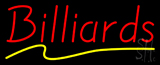 Billiards Yellow Line Neon Sign