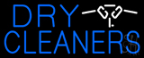 Blue Dry Cleaners Logo Neon Sign