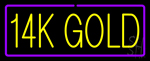 14k Gold Neon Sign