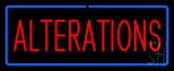 Red Alterations Blue Border Neon Sign