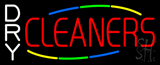 White Dry Cleaners Neon Sign