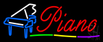 Piano With Logo LED Neon Sign