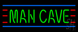Man Cave Small Red Green And Blue LED Neon Sign