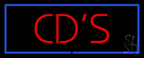 Red Cds Blue Border LED Neon Sign