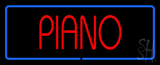 Piano Blue Border LED Neon Sign