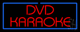 Red Dvd Karaoke Blue Border LED Neon Sign