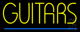 Yellow Guitars Blue Line LED Neon Sign