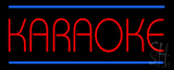Karaoke Blue Double Line LED Neon Sign