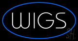 Wigs Blue Neon Sign