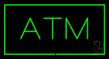Green Atm Green Border LED Neon Sign