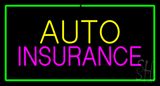 Auto Insurance Green Border LED Neon Sign