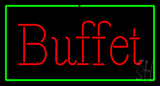 Buffet Rectangle Green LED Neon Sign