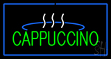 Cappuccino Logo Rectangle Blue LED Neon Sign