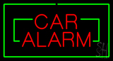 Red Car Alarm Rectangle Green LED Neon Sign