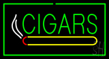 Green Cigars With Green Border LED Neon Sign