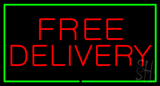 Free Delivery Rectangle Green LED Neon Sign
