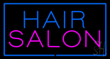 Hair Salon Rectangle Blue LED Neon Sign
